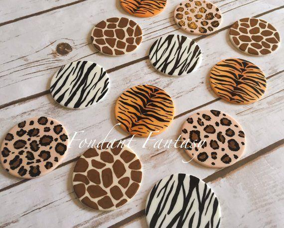 Baking Accs. & Cake Decorating Zebra Print Edible Cupcake Toppers Decoration