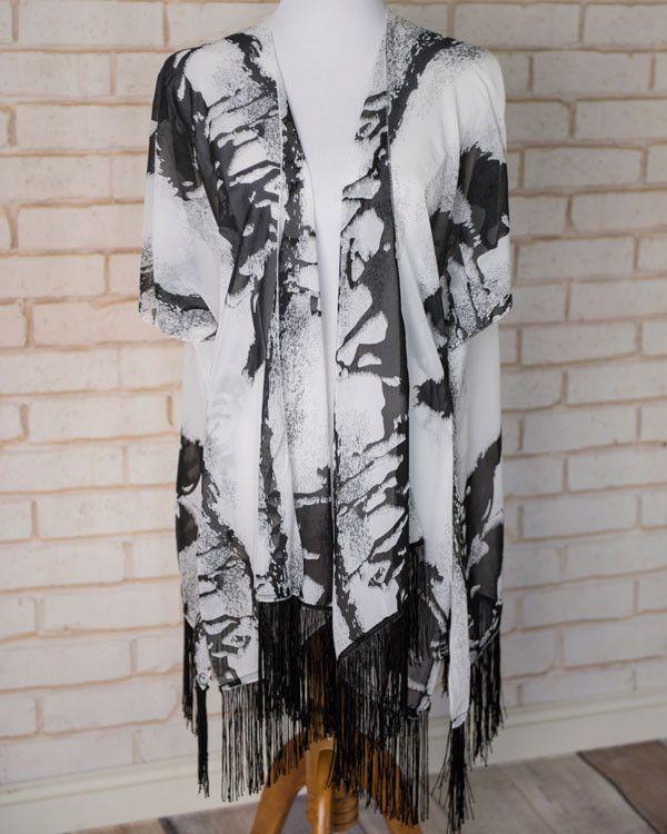 Misty- Horse Abstract Kimono | Cents Of Style