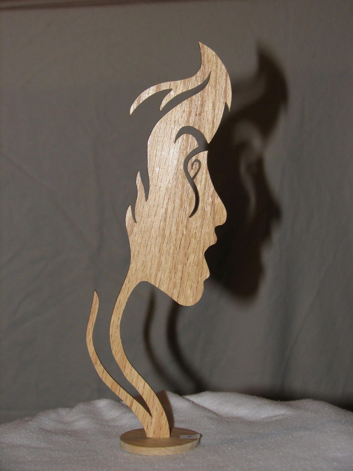 Girl Face Silhouette This Particular Work Is 1 8 Thick Giving It A More Delicate Appearance Normally Made O Wood Carving Art Wood Art Scroll Saw Patterns