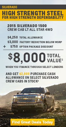 Current Deals Offers Incentives And Specials Chevrolet