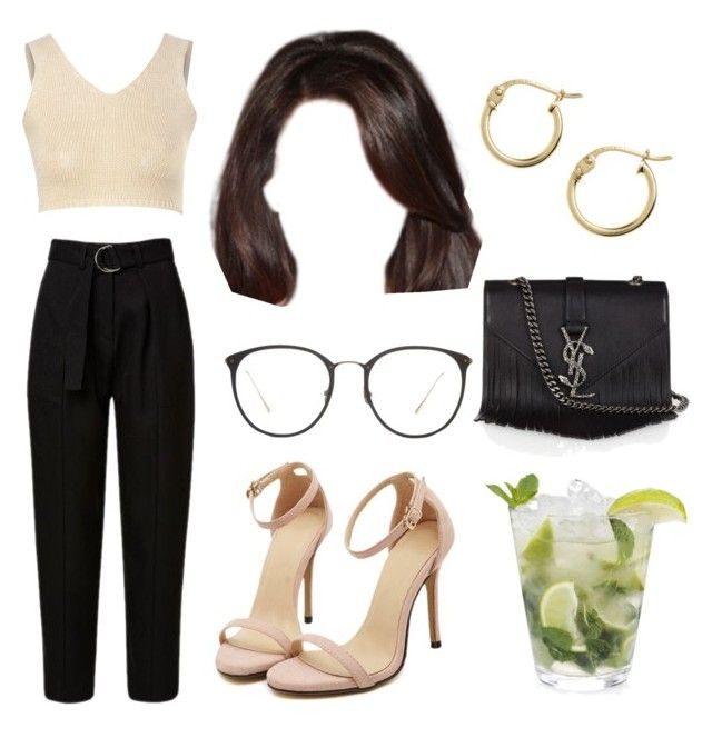 7:29 pm by georgia78 on Polyvore featuring polyvore fashion style Glamorous Yves Saint Laurent Lord & Taylor Linda Farrow clothing