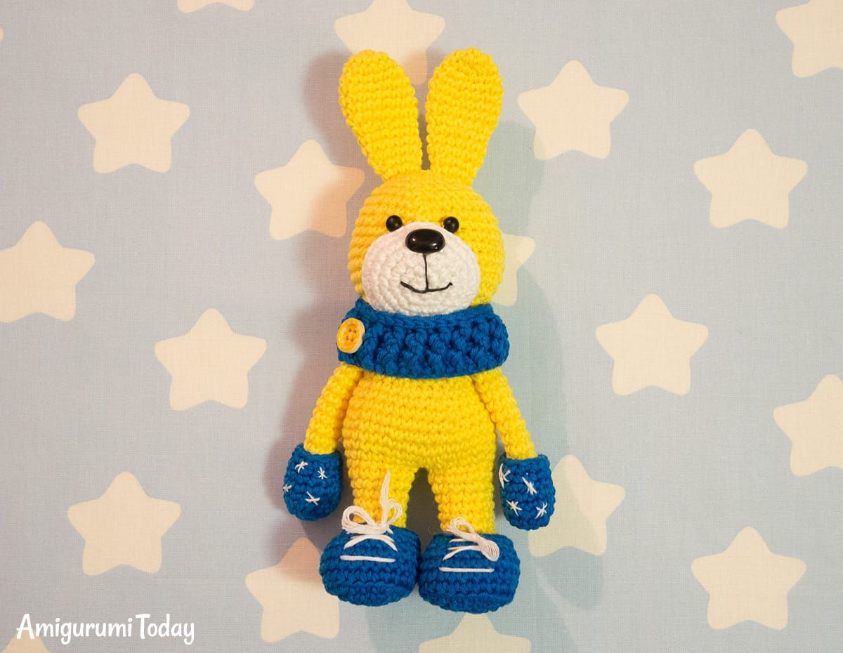 Crochet bunny with snood and mittens | Pinterest | Crochet bunny ...