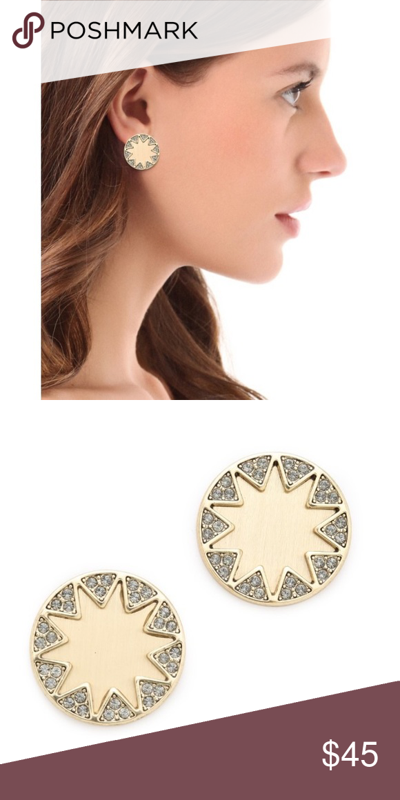 House Of Harlow 1960 Gold Sunburst Earrings S Signature Get A Glamorous Update With Pavé Crystals