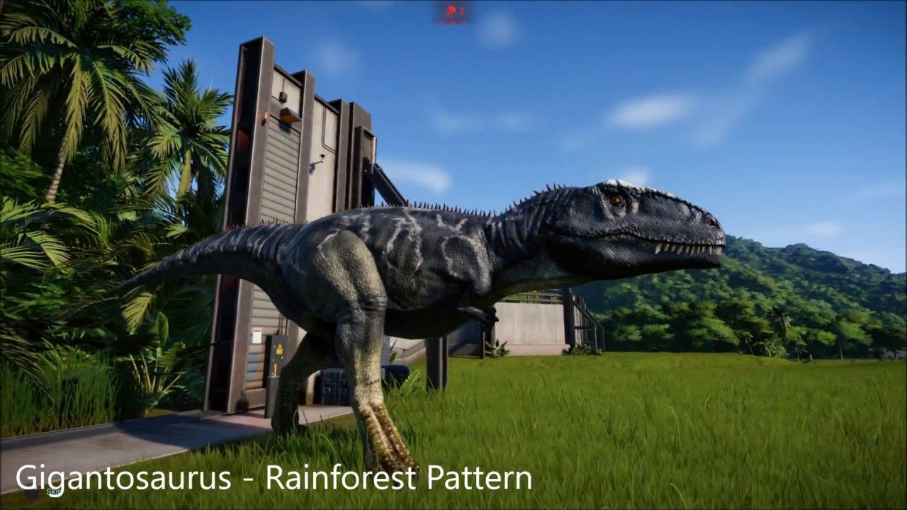 All Giganotosaurus Skins Jurassic World Evolution Youtube