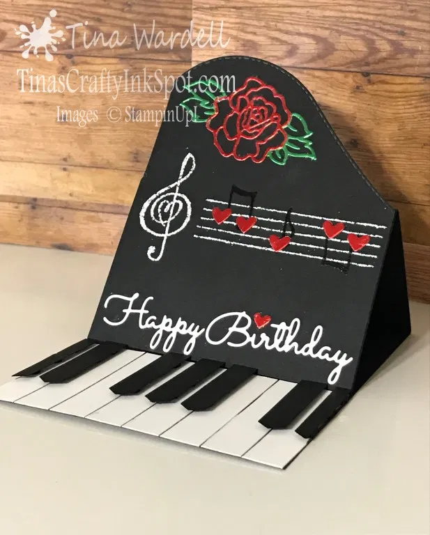 UPDATE Piano Easel Card ~Video Tutorial ⋆ Tina Wardell~Stampin' Up! Independent Demonstrator