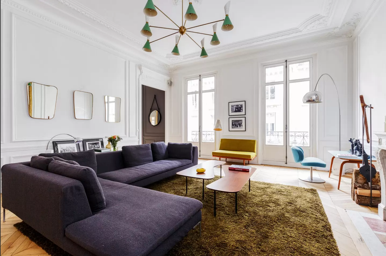 Spectacular Parisian Apartment with Mid Century Modern Furniture