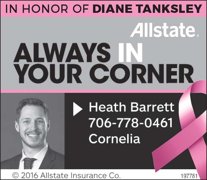 In Honor Of Diane Tanksley Allstate Heath Barrett Cornelia