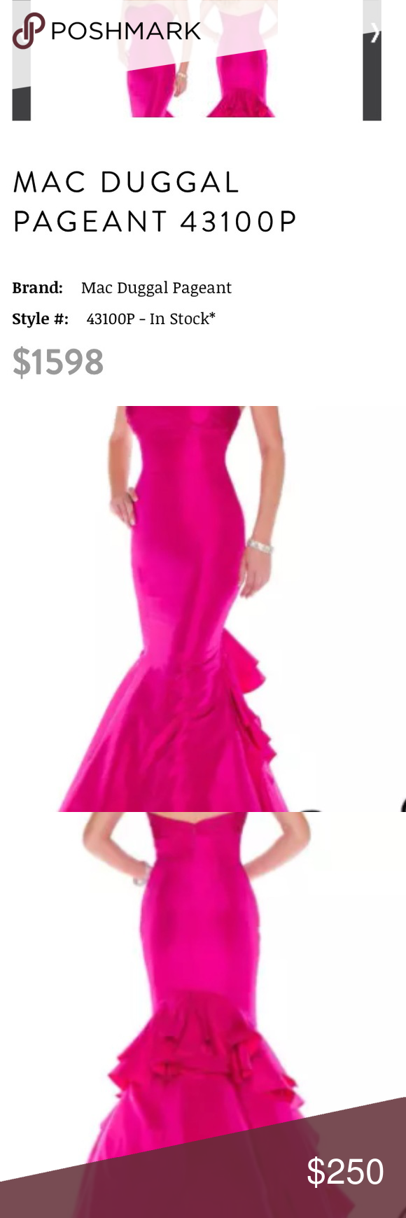 Mac duggal pageant or prom gown pageants macs and gowns
