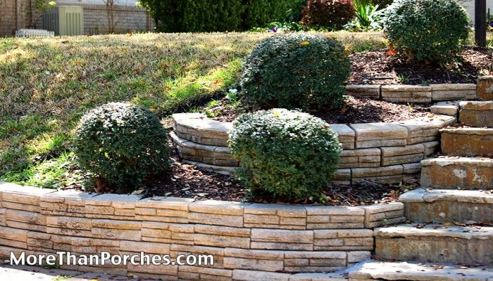 simple tiered landscaping