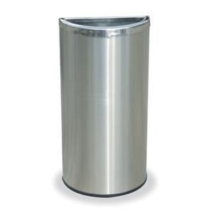 Precision Series 8 Gallon Receptacle with Half-Moon Open Top   Trash Receptacles   Upbeat.com