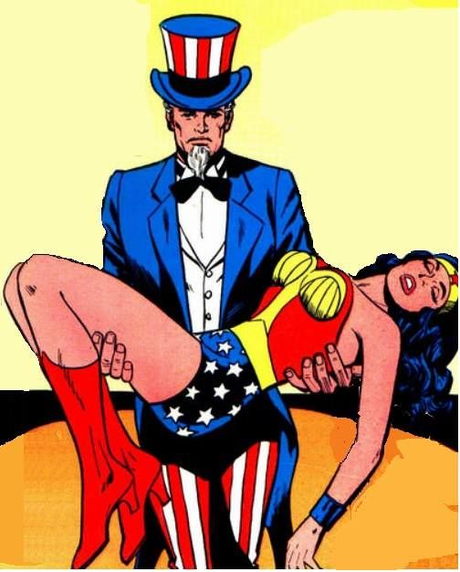 Did Uncle Sam cause Wonder Woman to swoon?