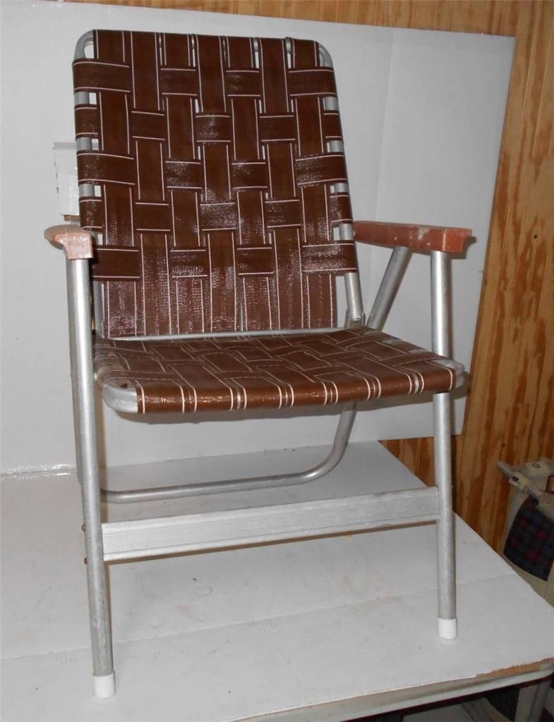 Vintage Lawn Deck Camping Chair Web Aluminum Folding Webbed Patio Retro |  EBay
