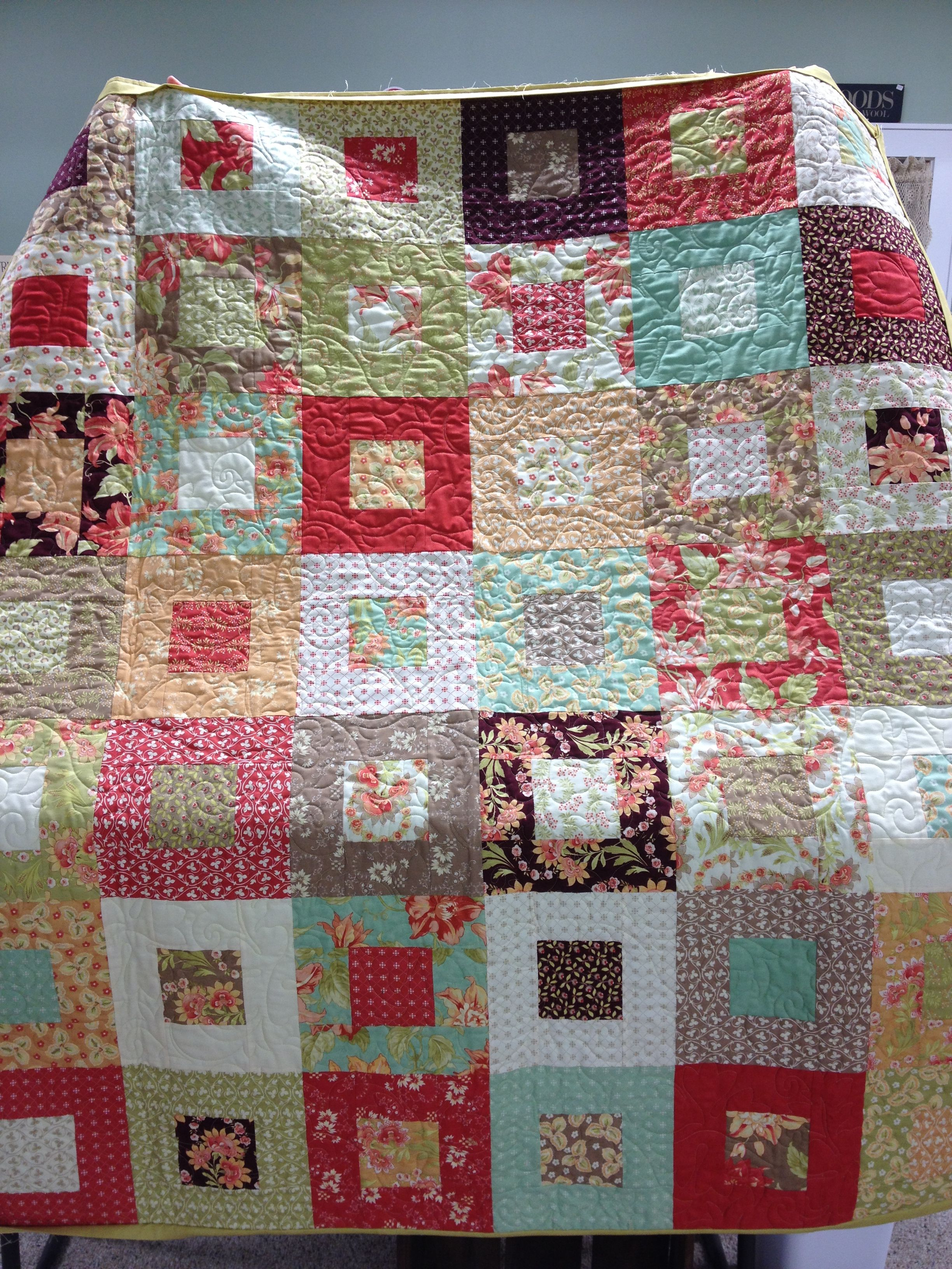 had it quilt since borders quilts and bountiful i snap panel four quick yardage of corner heirlooms img this make patches binding was the boy to baby for a center includes