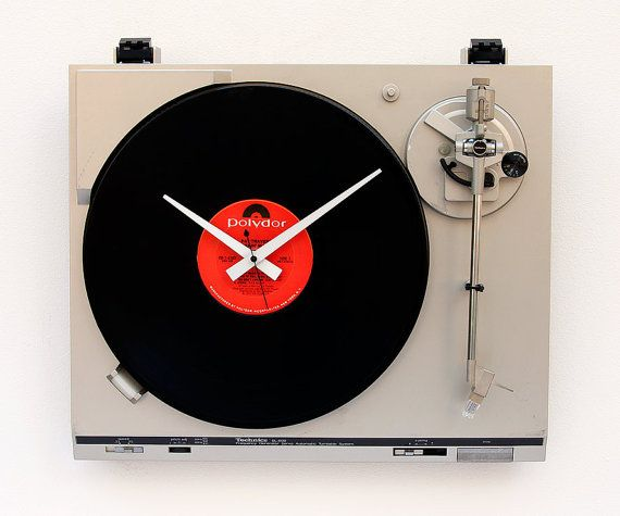 This record-player clock.   Community Post: 33 Things That Belong In Every Music Lover's Home