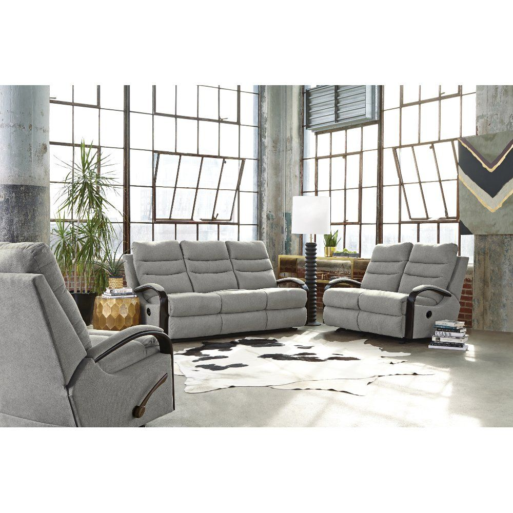 Pebble Gray Manual Gliding Reclining Loveseat Jansen Rc Willey Furniture Store Recliner Reclining Sofa Power Reclining Sofa #rc #willey #living #room #sets