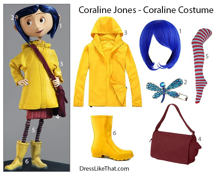 Image Result For Coraline Raincoat Coraline Costume Coraline Girl Costumes