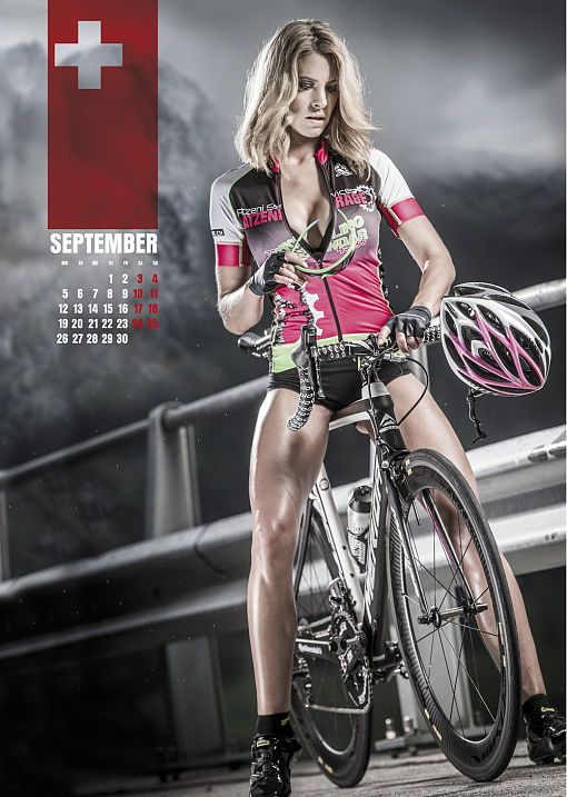 sexy cycling kalender swiss 2016 und 2015. Black Bedroom Furniture Sets. Home Design Ideas
