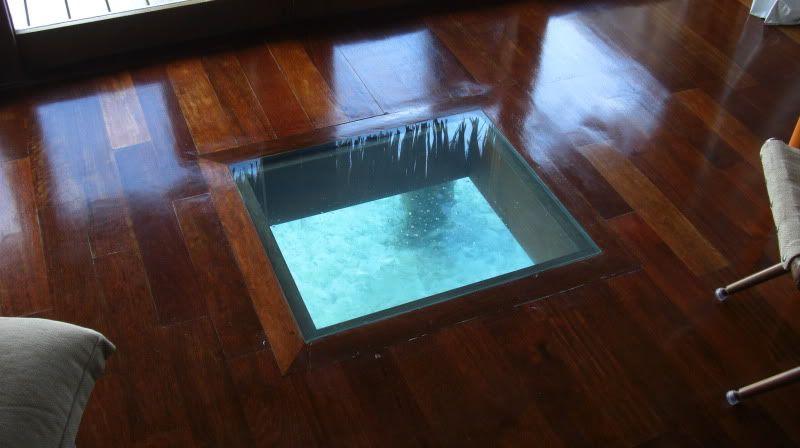 Bungalow Glass Floor Glass Bottom Overwater Bungalow