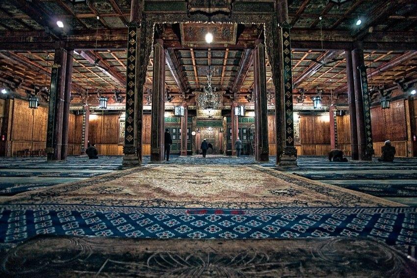 Картинки по запросу great mosque of xi an interior