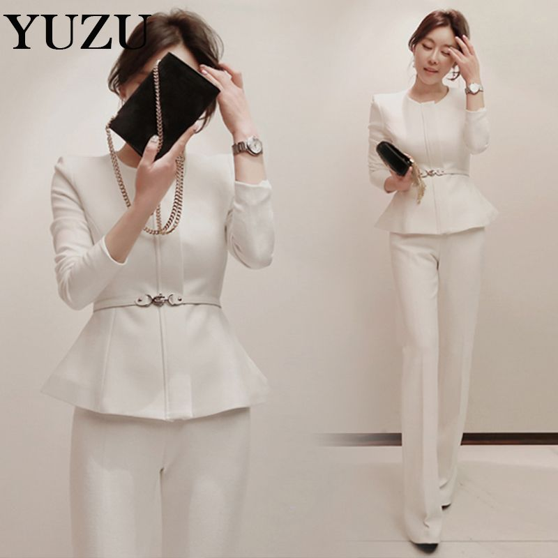 White Pant Suit For Women
