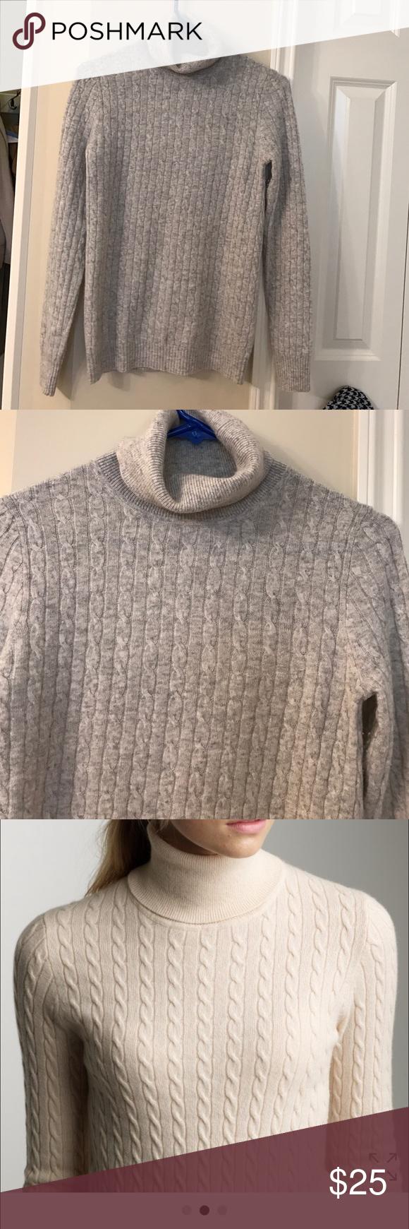 XS Light grey Cambridge turtleneck sweater. XS Light grey Cambridge turtleneck sweater. Beautiful condition. Worn once.  Wool nylon cashmere blend J. Crew Sweaters Cowl & Turtlenecks