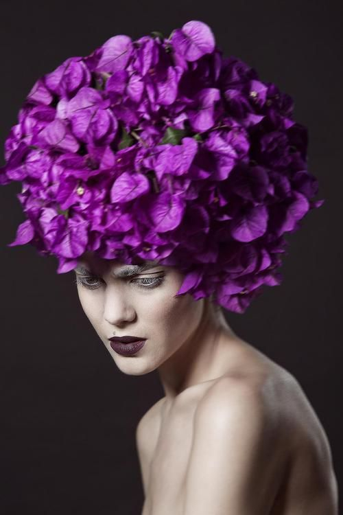 Purple Couture Hat