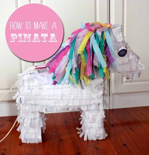 How to turn a cardboard box into a pinata