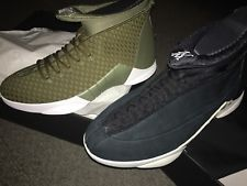 30acd52c0e04 Jordan 15 PSNY Black Suede and Olive Woven size 13 In Hand