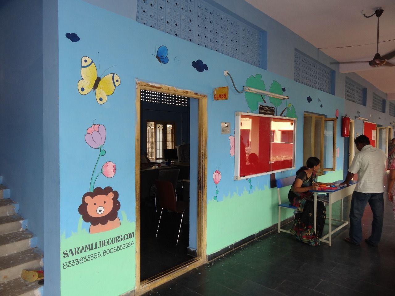 3d School Wall Painting Specialized Cartoon Artist Hyderabad 3d