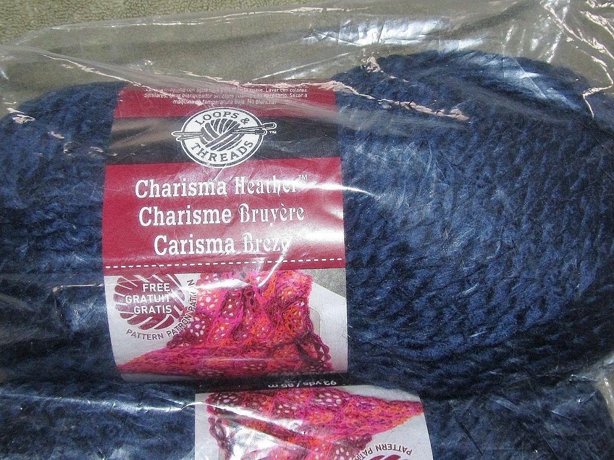 Three Balls Loops & Threads Charisma Heather Bulky Yarn, Lot 151180 ...