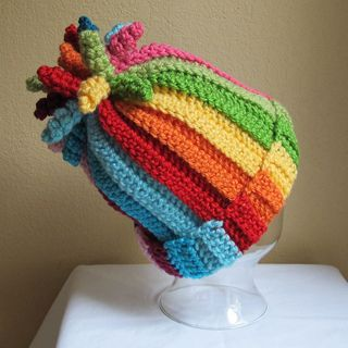 $$  Crochet hat PATTERN with curlicues: all sizes ~ Pinned for inspiration