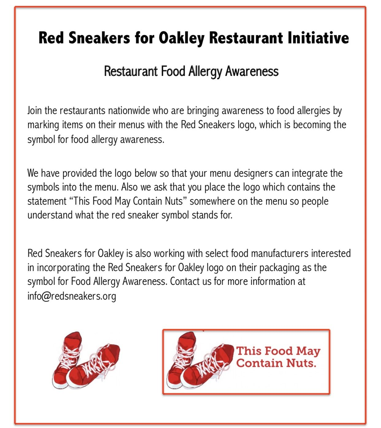 Red Sneakers For Oakley Restaurant Initiative Restaurant Food