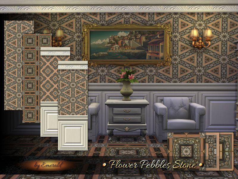 Create pleasant interior design with natural pebbles stone