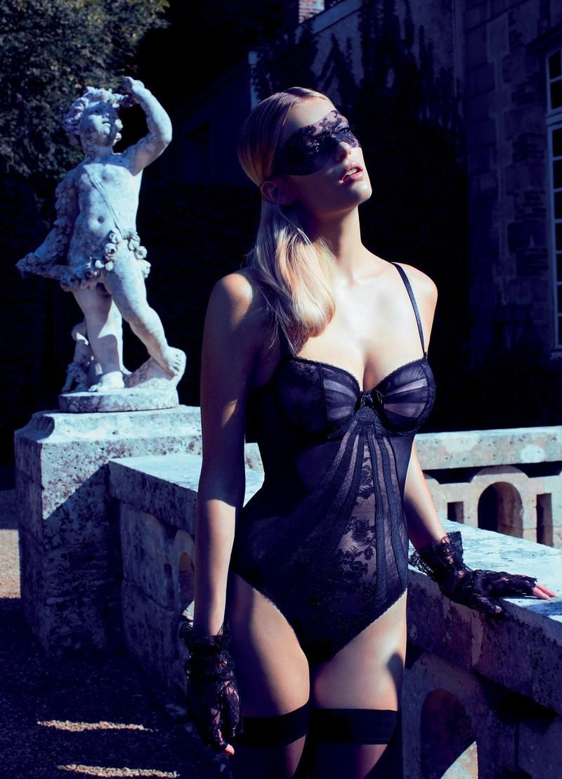 Talented photographer Bruno Dayan captures sexy, aristocratic lingerie looks styled by Andrej S...