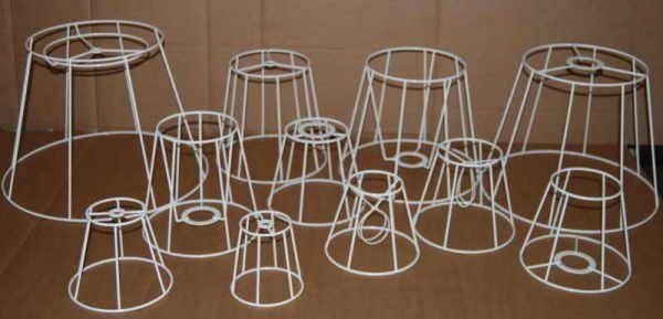 Lampenschirm Drahtformen Gestell http://www.ad-lampenschirme.at ...