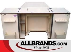 Alphasew P60915 Qt Compact Sewing Machine Cabinet with 23