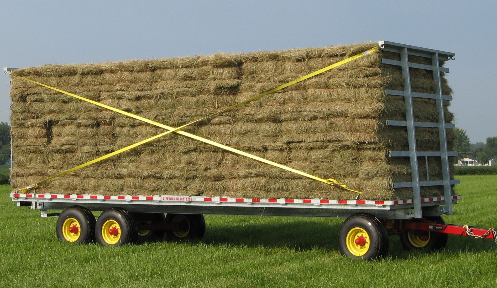Small Square Bales. Easy Hay or Straw hauling.   Lifetime Hay Wagons ...