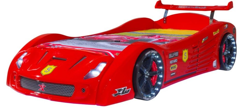 lit voiture luxe rouge karting 90