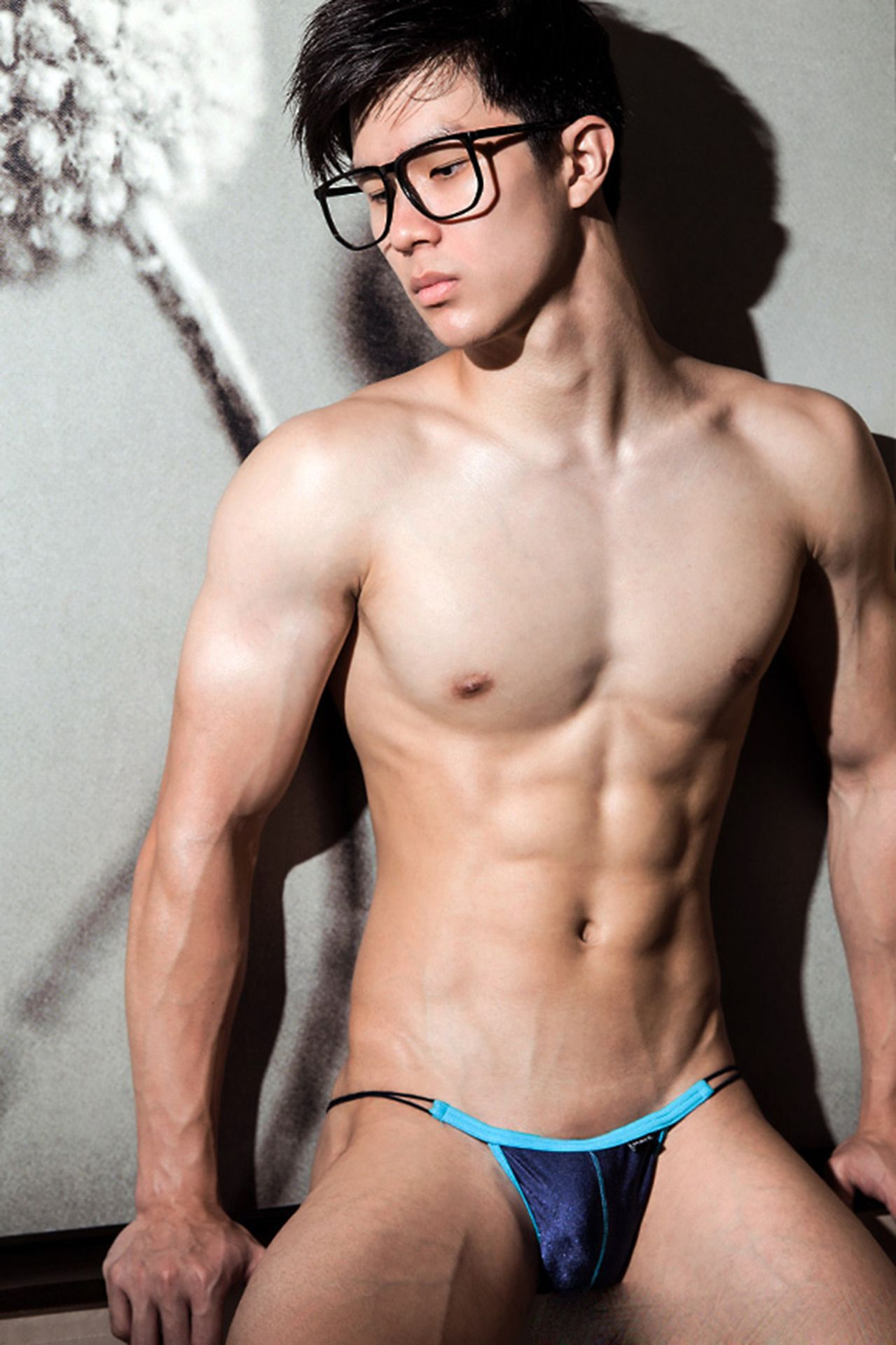 Asian boys wearing thongs