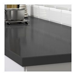 Oxsten Plan De Travail Sur Mesure Gris Fonce Motif Pierre Quartz 10 45x3 8 Cm Home Kitchens Ikea New Kitchen