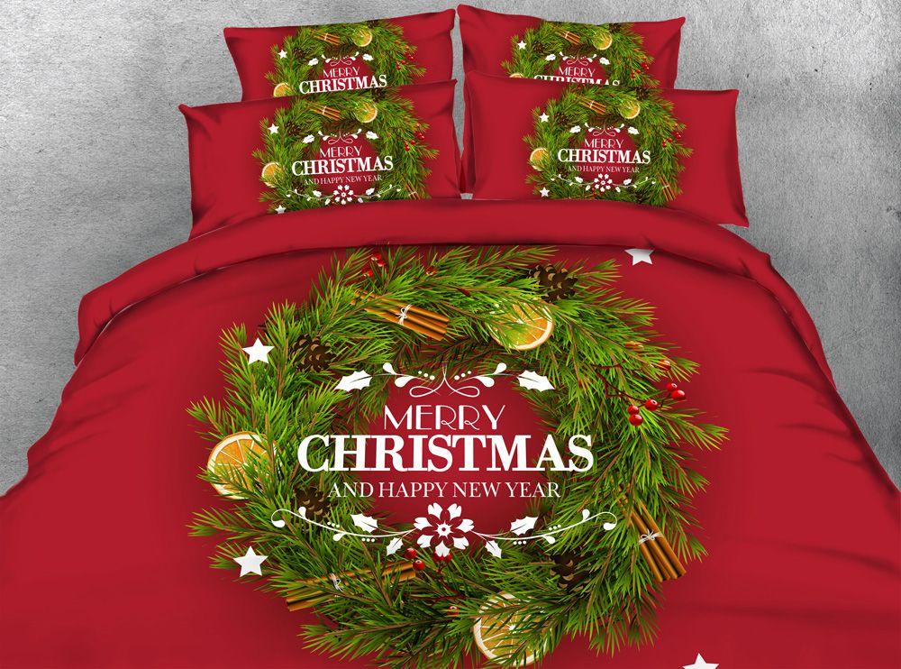 Duvet//Doona//Quilt Cover Set Queen//King//Super King Size Bed New Ar Merry Xmas