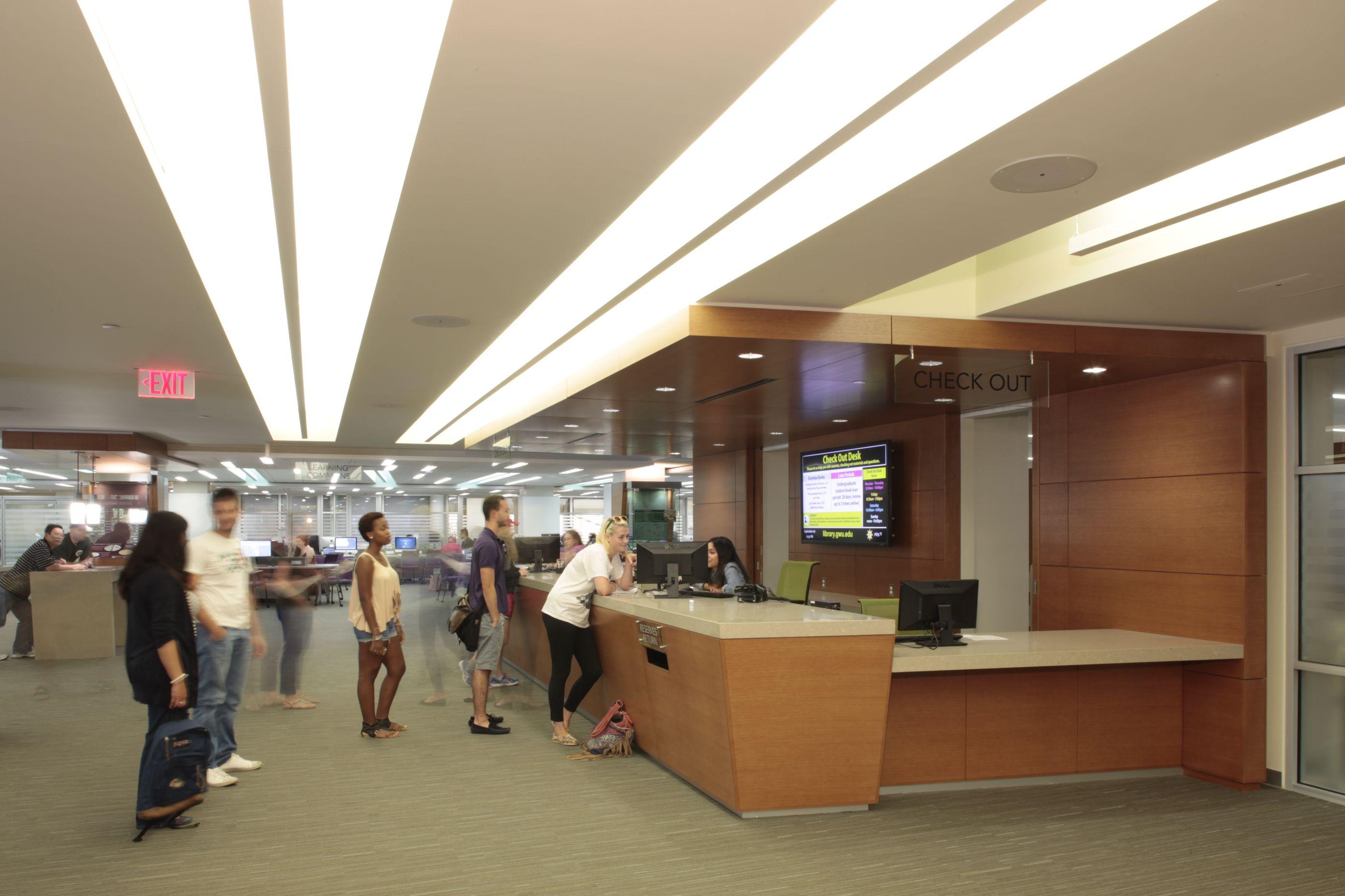Circulation Desk The George Washington University Gelman Library