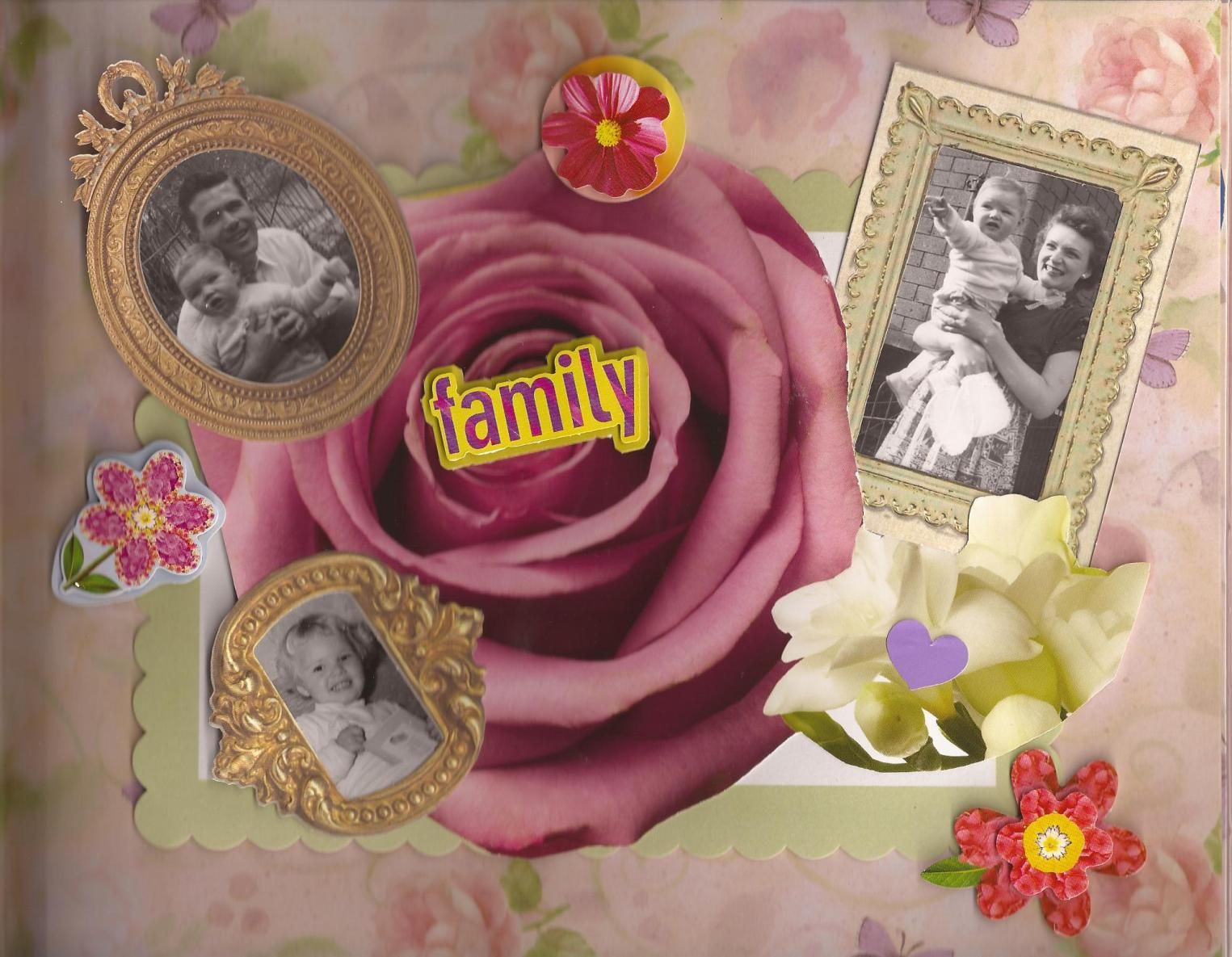 Front Page Of Scrapbook Album Family Treasures Pinterest