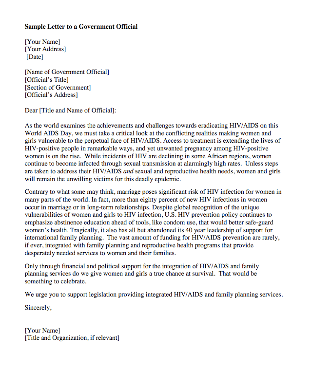 Government Official Letter Sample  HttpExampleresumecvOrg