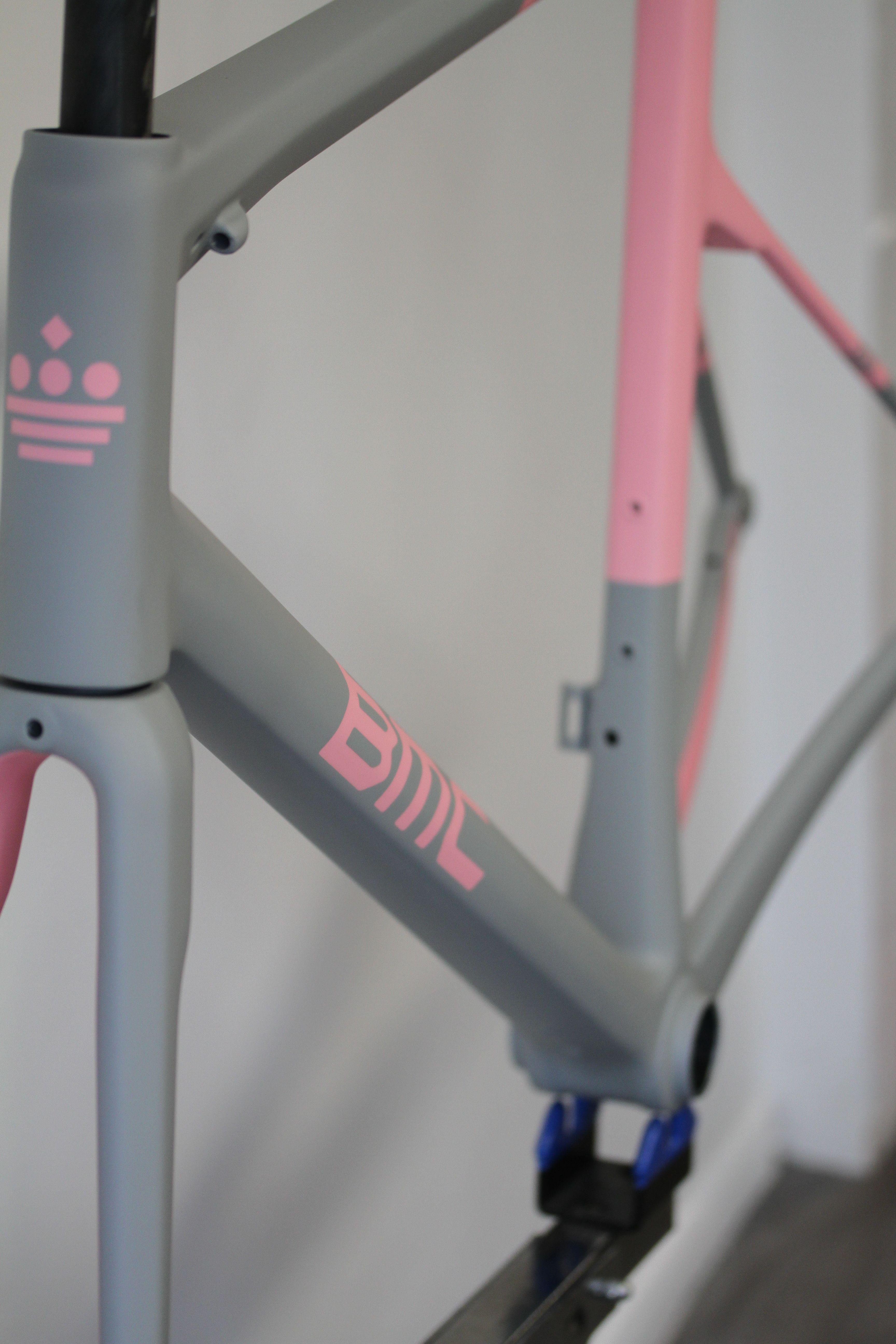 Custom Spray Bicycle Painting Bicycle Paint Job Pink Bike