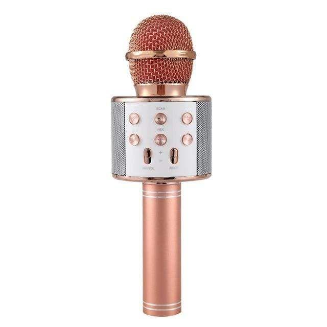 Wireless Bluetooth Karaoke Microphone - Rose Gold #bestkaraokemachine