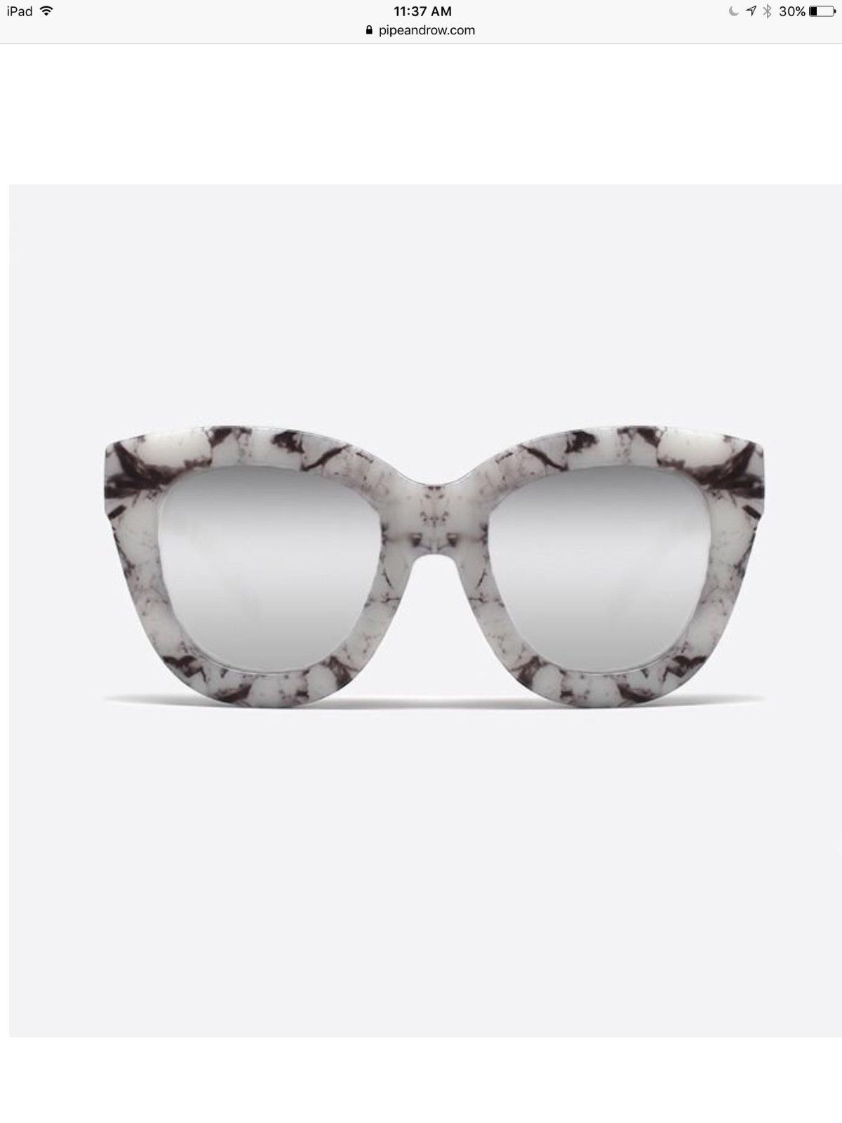 896d27d959c8 🆕QUAY sugar and spice marble plastic oversized cateye sunnies ...