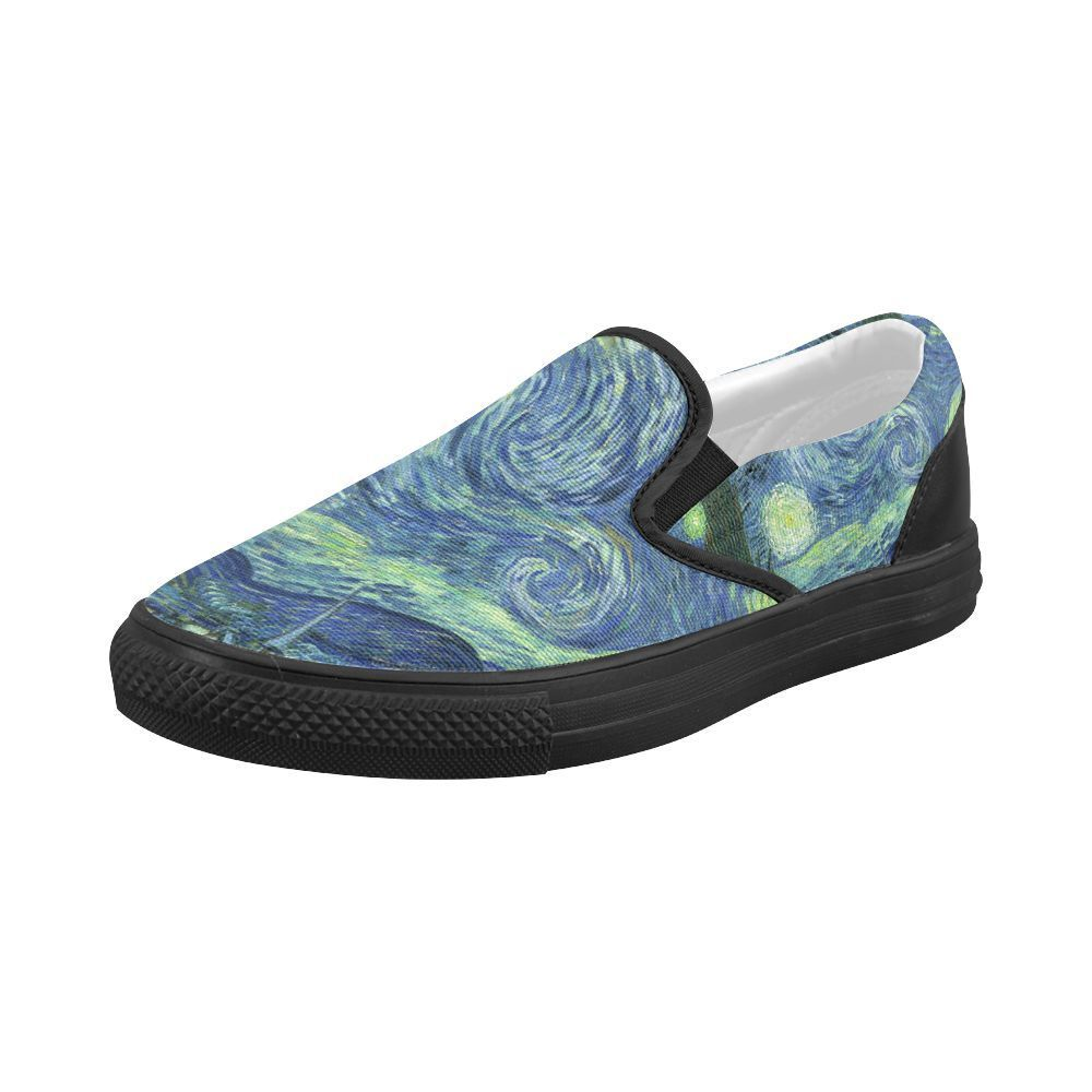 c17587df0393 Starry Night Vincent Van Gogh Art Slip-on Canvas Women s Shoes US Size 6-10   Unbranded  LoafersMoccasins  Casual