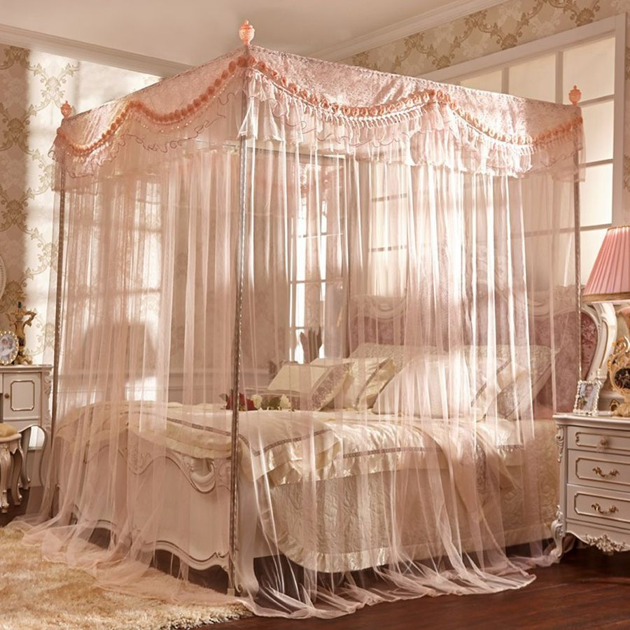 Coral Pink Canopy Bed Yahoo Image Search Results Queen Size
