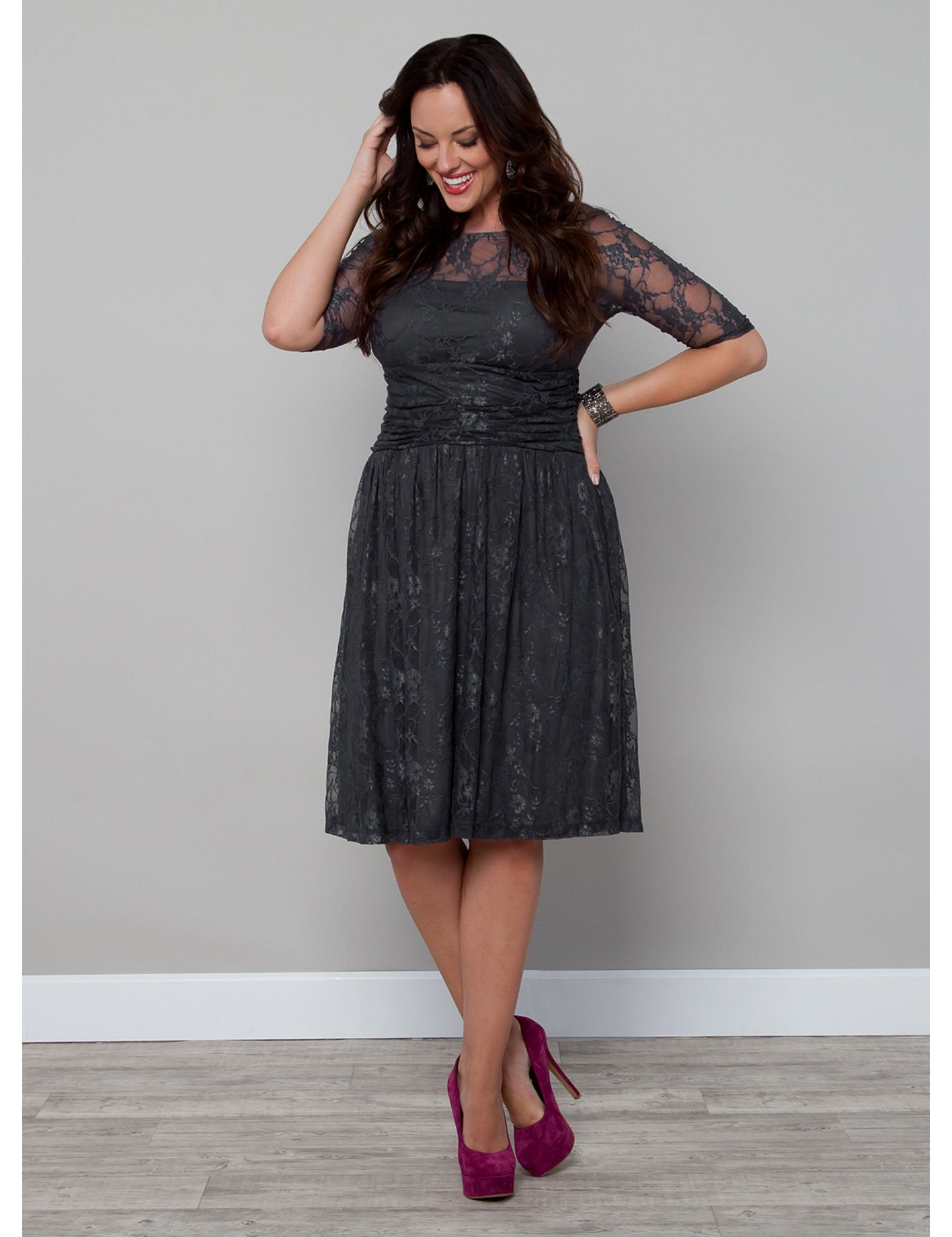 Plus size special occasion cocktail party dresses for Lane bryant wedding dress